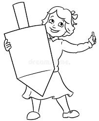 large dreidel jewixh girl holding large channuka dreidel stock