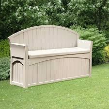 plastic garden bench with storage patio storage seat box deck