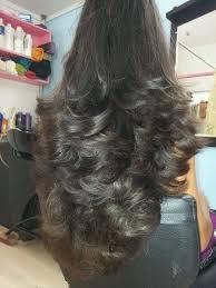 step cutting hair long layered hair cut natural inversion youtube