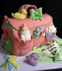 baby shower ideas cakes ideas for baby shower cakes pink white yellow bag cake