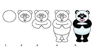 drawingmanuals com presents children guidelines of panda bear