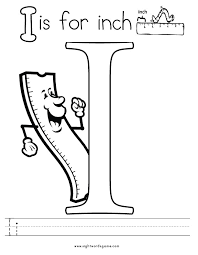 Alphabet Coloring Pages I Coloring Pages