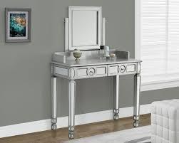 mirrored vanity desk as narrow space saver u2013 matt and jentry home