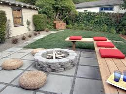 love this unconventional backyard sitting area with firepit easy