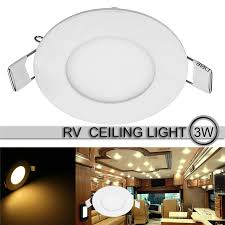 ceiling light flat round 3 5 inch 3w car led round recessed roof ceiling light ultra slim