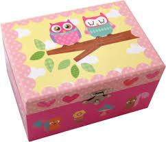 Childrens Music Boxes Owls Musical Treasure Box Music Box From N J Dean U0026 Co