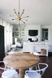 Contemporary Chairs For Living Room White Living Room Neutral Rustic Pedestal Table Sputnik White