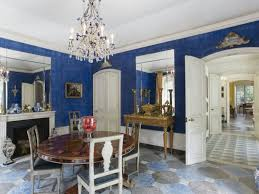 blue dining room interior wallpaper zillow digs zillow