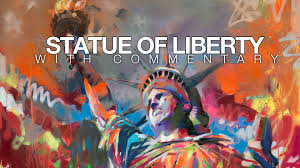 statue of liberty acrylic and spray paint painting youtube