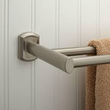 bathroom decorating your bathroom with brushed nickel towel bar