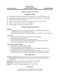 100 resume examples culinary student examples of resumes