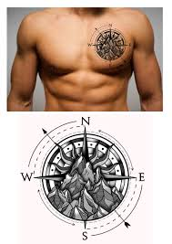 Nautical Map Tattoo 110 Best Compass Tattoo Designs Ideas And Images Compass Tattoo