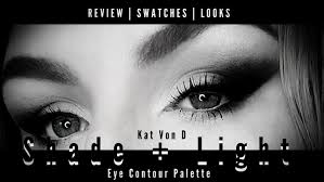 kat von d shade and light eye looks review swatches looks kat von d beauty shade light eye contour