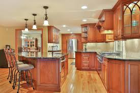 Cherry Cabinets Kitchen Custom Cherry Cabinet Kitchen Manasquan New Jersey By Design Line