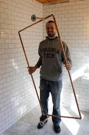 Claw Foot Tub Shower Curtains Diy Copper Shower Curtain Rod Ridgeside