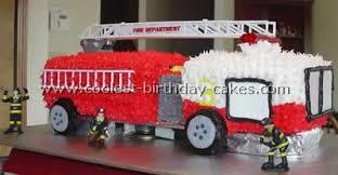 firetruck cake coolest truck cake ideas