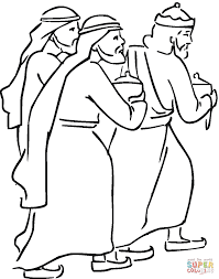 wise men with gifts coloring page free printable coloring pages