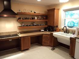 handicap accessible kitchen cabinets lowered with space underneath