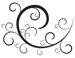 black decorative ornament on white stock vector colourbox
