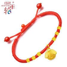 red rope bracelet images Red rings gold transfer pearl zodiac bracelet women 3d hard gold jpg