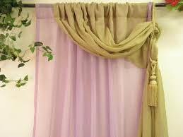 Green Sheer Curtains Lilac And Olive Green Layer Semi Sheer Curtain Panel