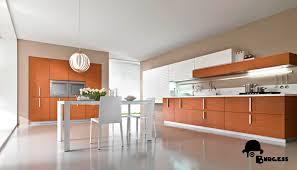 matt orange woodgrain kitchen burgess hive kitchens
