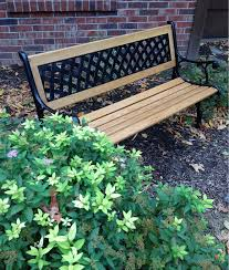 oak u0026 iron garden bench walke moore tools