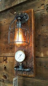 Barn Wall Sconce Industrial Barn Wood Wall Sconce Light Lamp 1066