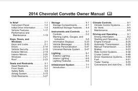 2014 corvette owners manual 2014 c7 corvette guide overview specs vin info