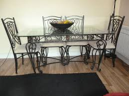 wrought iron dining table and 6 chairs in droylsden manchester