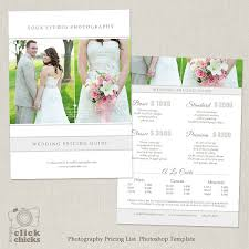 photography wedding packages wedding photography package pricing list template
