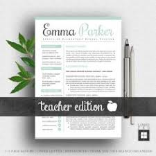 Teachers Resume Template Teacher Resume Template For Word And Pages Cover Letter