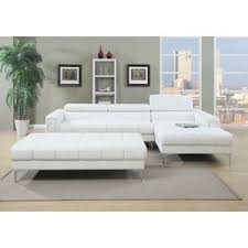 White Sectional Sofa White Sectional Modern Sectional Sofa In White Bonded Leather