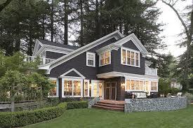 dark brown exterior trim exterior traditional with white railing