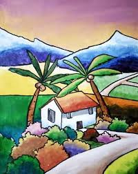 learn blending acrylic paints to create landscapes lilcreativekids