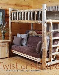 Bunk Futon Bed Log Futon Bunk Bed Log Bedroom Furniture Twist Of Nature