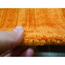 Orange Modern Rug by Natural Fiber Art Silk Viscose Rugs Free Shipping Australia