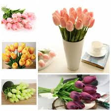 online buy wholesale tulip decoration from china tulip decoration 10pcs artifical real touch pu tulips flower single stem bouquet room home decor china