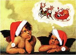amazon com holiday angels raphel u0027s sistine madonna art parody