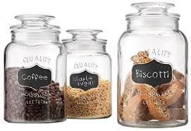 kitchen glass canisters glass kitchen canister amazon com