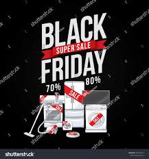appliance sales black friday black friday sale advertising poster shopping stock vector