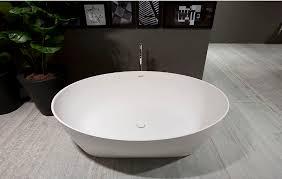 vasca da bagno in plastica vasca da bagno da appoggio ovale in marmo in plastica