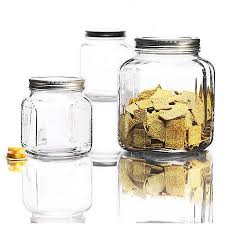 anchor hocking 3 piece cracker jar glass canister set mad