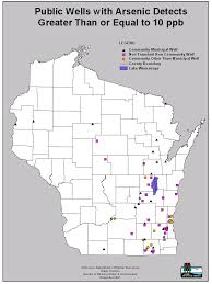 Counties In Wisconsin Map by Arsenic Occurrence Wisconsin Dnr