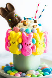 easter bunny candy leftover easter candy freakshake baking mischief