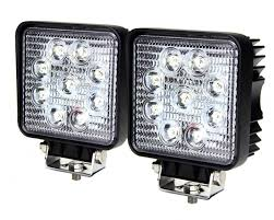 square led work light u2013 4 inch 27 watt tuff led lights