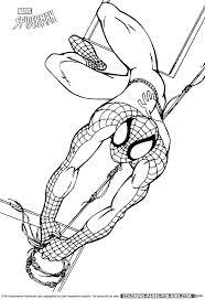 spiderman coloring swinging spiderman