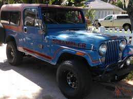 scrambler jeep scrambler cj8 sky blue w rally top u0026 family roll bar