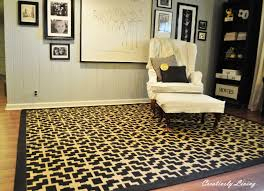 stenciled rug tutorial creatively living blog