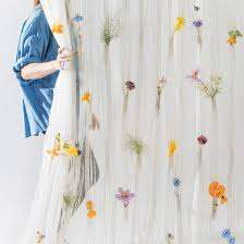 White Curtains With Yellow Flowers Curtain Related Design And Interiors Dezeen